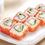 Гункан-суши с черной чечевицей